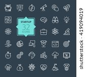 outline web icon set   start up ... | Shutterstock .eps vector #419094019