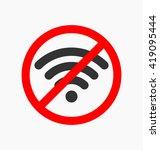 no wifi icon vector...   Shutterstock .eps vector #419095444
