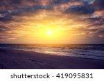 Evening On The Beach  Sunset...