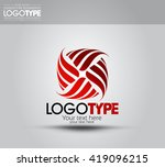 abstract square loop lines logo ... | Shutterstock .eps vector #419096215