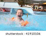 the child laps in an aquapark... | Shutterstock . vector #41910106