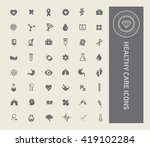 healthy care medical icon set... | Shutterstock .eps vector #419102284