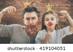 funny family  father and his... | Shutterstock . vector #419104051