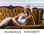 sensual and beautiful young... | Shutterstock . vector #419104879