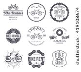 bike rent. set of vintage ... | Shutterstock .eps vector #419108674