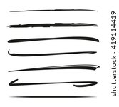 set of hand drawn marker lines  ... | Shutterstock .eps vector #419114419