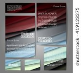 corporate identity template set.... | Shutterstock .eps vector #419123275