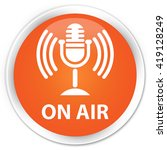 on air  mic icon  orange glossy ... | Shutterstock . vector #419128249