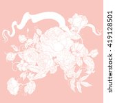 vector pastel floral seamless... | Shutterstock .eps vector #419128501