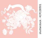 vector pastel floral seamless... | Shutterstock .eps vector #419128501