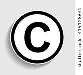 copyright sign. sticker style... | Shutterstock . vector #419128645