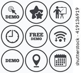 clock  wifi and stars icons.... | Shutterstock .eps vector #419136919