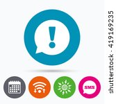 wifi  sms and calendar icons.... | Shutterstock .eps vector #419169235
