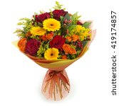 colorful bouquet of various... | Shutterstock . vector #419174857