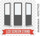 lcd screen floor stand. black... | Shutterstock .eps vector #419177425