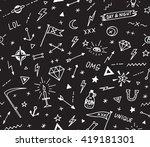 vector pattern with old school...   Shutterstock .eps vector #419181301