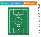 flat design icon of football...