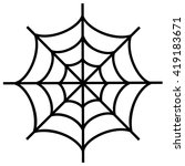 spiderweb icon isolated on... | Shutterstock .eps vector #419183671
