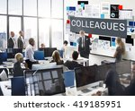 colleagues coworkers team... | Shutterstock . vector #419185951
