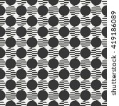geometric line monochrome... | Shutterstock .eps vector #419186089