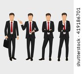 business man set. vector... | Shutterstock .eps vector #419186701