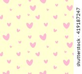 cute pattern with pink hearts.... | Shutterstock . vector #419187247