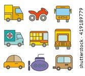 transportation icons set   Shutterstock .eps vector #419189779