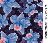 seamless tropical flower  plant ...   Shutterstock . vector #419190175