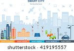 smart city concept with... | Shutterstock .eps vector #419195557