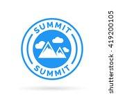 summit icon with mountain peak... | Shutterstock .eps vector #419200105