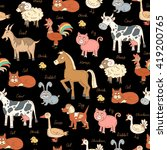 vector seamless pattern with... | Shutterstock .eps vector #419200765