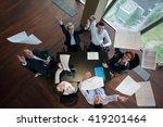 top view of happy  business... | Shutterstock . vector #419201464