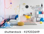 shot of a spacious space themed ... | Shutterstock . vector #419202649