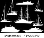 illustration with ship... | Shutterstock .eps vector #419203249