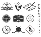 hockey logo set in vector. set... | Shutterstock .eps vector #419205829