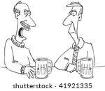 cartoon of two men in a bar   Shutterstock . vector #41921335
