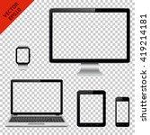 computer monitor  laptop ... | Shutterstock .eps vector #419214181