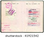 old belgian passport. pages for ... | Shutterstock . vector #41921542