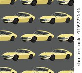 seamless pattern with retro car.... | Shutterstock .eps vector #419222545