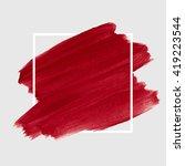 logo art brush paint vector.... | Shutterstock .eps vector #419223544