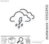 cloud thunderstorm lightning...   Shutterstock .eps vector #419223931