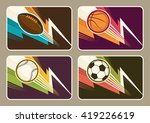 set of different sport... | Shutterstock .eps vector #419226619
