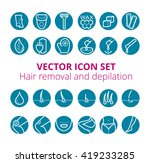 thin lines web icon set   ... | Shutterstock .eps vector #419233285