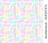 happy birthday seamless pattern | Shutterstock .eps vector #419237371