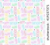 happy birthday seamless pattern | Shutterstock .eps vector #419237371