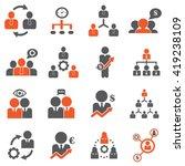 management   business training... | Shutterstock .eps vector #419238109