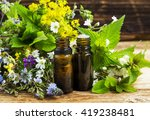 alternative herbal medicine... | Shutterstock . vector #419238481