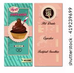 cupcakes  bakery menu design... | Shutterstock .eps vector #419239699