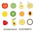 fruit and vegetable berries... | Shutterstock .eps vector #419240875