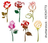 roses sign | Shutterstock .eps vector #41924773